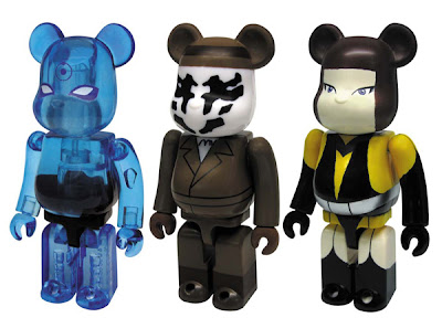 Watchmen 100% Be@rbrick Set B - Dr. Manhattan, Rorschach & Silk Spectre II Be@rbricks