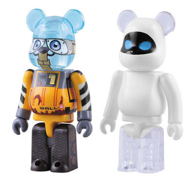 The WALL&#183;E 100% Be@rbrick Set - WALL&#183;E and EVE Be@rbricks