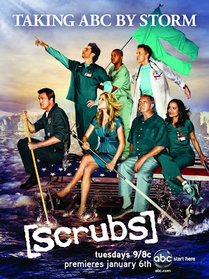 Scrubs Season 8 on ABC Television Poster