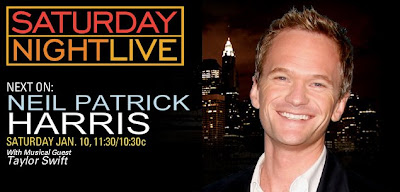 Saturday Nighty Live Jan 10, 2009 Episode Hosted by Neil Patrick Harris with Musical Guest Taylor Swift