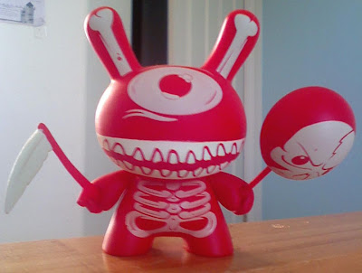 Ye Olde English UK Dunny Series - Red Glow In The Dark Mimic Variant Dunny