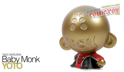 New York Comic Con Exclusive Baby Monk Yoto Vinyl Figure by Veggiesomething, Crazy Label, & myplasticheart