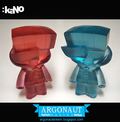 Sneak Peek: Tourmaline and Aquamarine Clear Tint Moneygrip Resin Figures by kaNO and Argonaut Resins