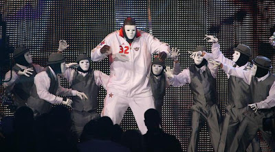 2009 NBA All Star Game - Shaquille O'Neal Dancing With The Jabbawockeez During Player Introductions