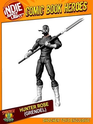 Wizard Tour Exclusive 2010 Hunter Rose (Grendel) Action Figure by Shocker Toys