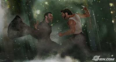 X-Men Origins: Wolverine - Liev Schreiber as Sabretooth and Hugh Jackman as Wolverine