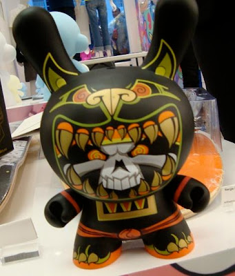 Kidrobot - The Black Chase Jaguar Warrior 8 Inch Dunny by Jesse Hernandez