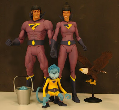 San Diego Comic Con 2009 Exclusive DC Universe Classics Wonder Twins 2 Pack - Zan, Jayna & Gleek Action Figures