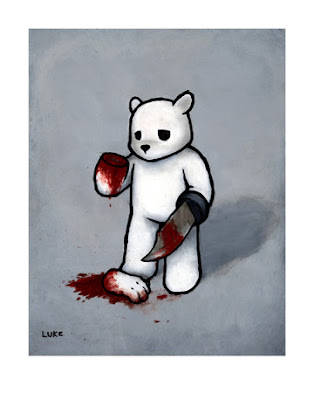 Bear With A Knife Hand (BAD IDEA) Giclee&#8217; Print by Luke Chueh