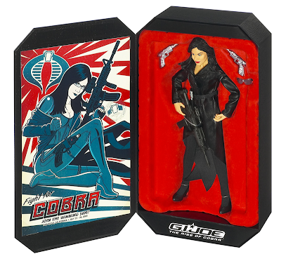 Hasbro San Diego Comic Con 2009 Exclusive - G.I. Joe: The Rise of Cobra 12 Inch Baroness Special Edition Figure In Package and Poster