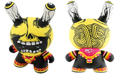 Kidrobot - Mictlantecuhtli 8 Inch Dunny Front and Back by Saner