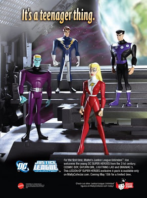 MattyCollector.com Exclusive JLU Legion of Super Heroes 4 Pack