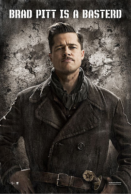 Inglourious Basterds Character Movie Posters - Brad Pitt as Lt. Aldo Raine