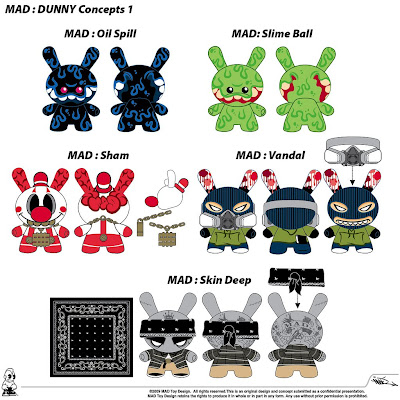 Kidrobot - MAD's 2009 Dunny Concept Designs 1