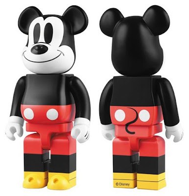 Medicom Toy x Disney Mickey Mouse 400% and 1000% Be@rbricks