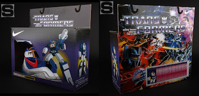 The Nike x Transformers Sneaker Set - The Soundwave Zoom Sharkalaid Sneaker Packaging