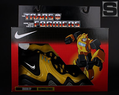 The Nike x Transformers Sneaker Set - The Bumblebee Zoom FP Sneaker Packaging