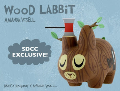 Kidrobot - San Diego Comic Con 2009 Exclusive Wood Labbit by Amanda Visell and Frank Kozik