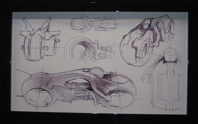 San Diego Comic Con 2009 - Flynn's Arcade: Tron Legacy Light Cycle Design Sketches
