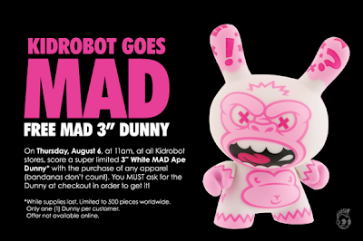 Kidrobot - Free 3 Inch White MAD Ape Dunny