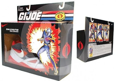 Nike x G.I. Joe Cobra Sneaker Set - Cobra Commander Alpholution Supreme Sneakers and Packaging
