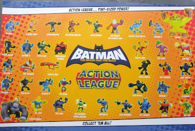 Batman: The Brave and the Bold Action League Action Figures Checklist Poster