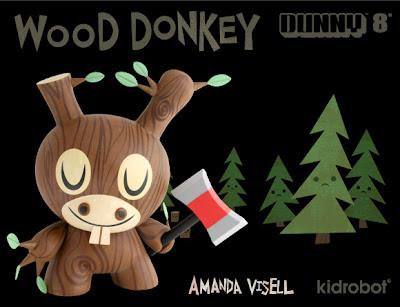 Kidrobot - Wood Donkey 8 Inch Dunny by Amanda Visell