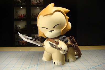 The Liontaur Custom Hand Painted Vinyl Munny by Huck Gee