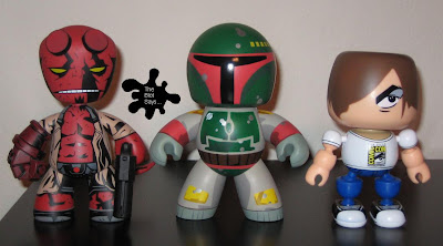 Mighty Muggs vs. Mez-Itz vs. Mallow Vinyl Figures Front View