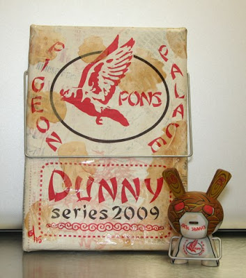 PON - Artist Proof Grease Stained Take Out Dunny Chase and 5x7 Canvas Set