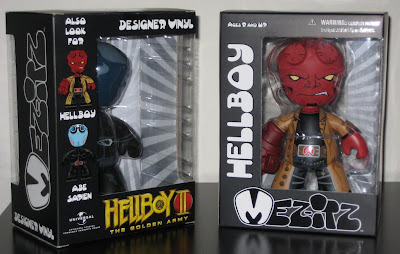 Mezco Toyz - Hellboy II The Golden Army Mez-Itz Vinyl Figures in Packaging Front and Back