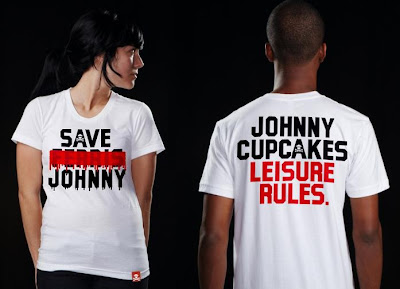 Johnny Cupcakes x Ferris Bueller's Day Off T-Shirt - Save Johnny Front and Back