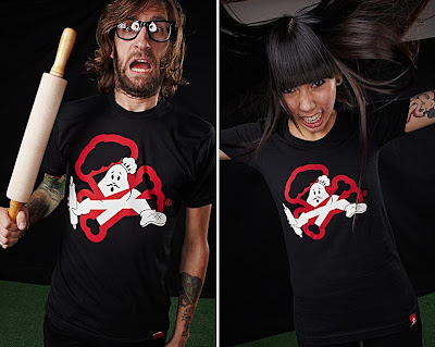 Johnny Cupcakes x Ghostbusters - Crossbone Buster Guys & Girls T-Shirts