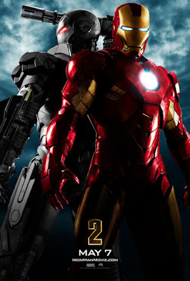 Iron Man 2 Teaser One Sheet Promo Movie Poster featuring War Machine