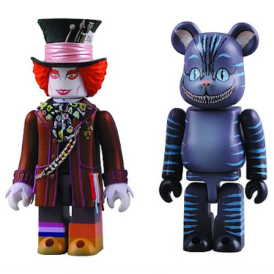 Medicom x Disney Alice In Wonderland 100% Kubrick & Be@rbrick Set - Mad Hatter Kubrick & Cheshire Cat Be@rbrick