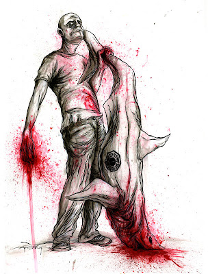 The Lockeness Monster by Alex Pardee