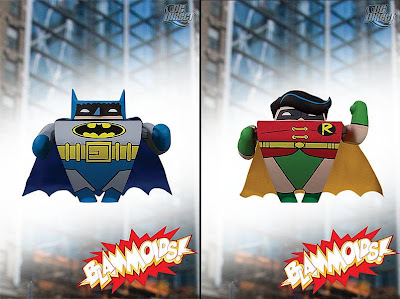 Blammoids! Series 3 by DC Direct - Classic Batman and Robin PVC Vinyl Mini Figures
