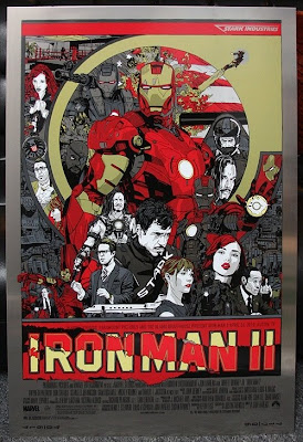Mondo Tees - Iron Man 2 Metal Variant Poster by Tyler Stout