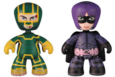 2010 Summer Exclusive Kick-Ass Mez-Itz Super Bundle by Mezco Toyz featuring Kick-Ass and Hit-Girl Mez-Itz