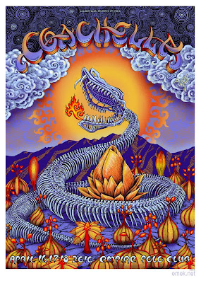 Coachella Music Festival 2010 Snake Screen Print Artist Edition by EMEK