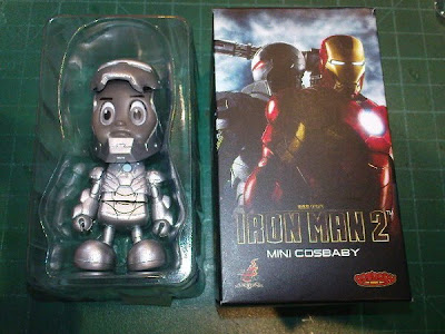 Iron Man 2 CosBaby Series from Hot Toys - James 'Rhodey' Rhodes in Iron Man Mark II Armor Chase Figure