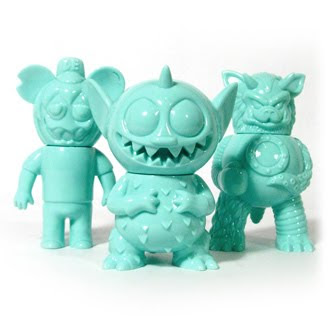 Super7 San Diego Comic-Con 2010 Exclusive Monster Family 3-Pack #1 - Le Turd by Le Merde, Power Mister by David Horvath & Partyball by Paul Kaiju