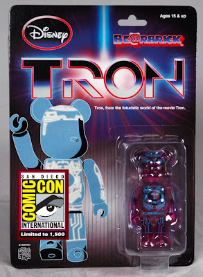 Disney x Medicom San Diego Comic-Con 2010 Exclusive 100% TRON Be@rbrick Blister Card Packaging from Diamond Comics