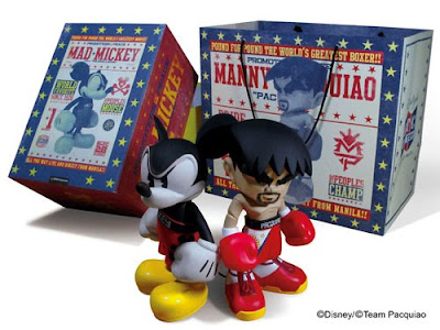 Manny Pacquiao x Bloc28 Mad Mickey Vinyl Figures and Packaging by MINDstyle