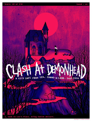 San Diego Comic-Con 2010 Exclusive Scott Pilgrim Screen Print Series - Clash At Demonhead by Daniel Danger