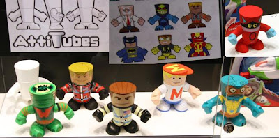 San Diego Comic-Con 2010 - Mattel AttiTUBES Vinyl Figures