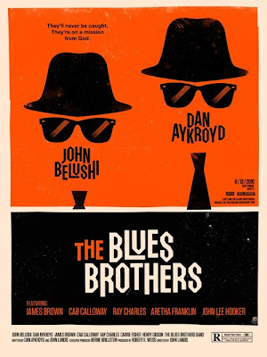 2010 Rolling Roadshow Screen Print Series - The Blues Brothers by Olly Moss