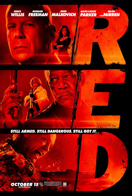 RED Final Theatrical One Sheet Movie Poster