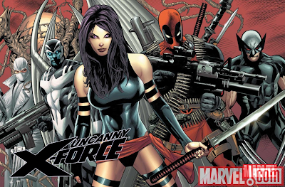 Marvel Comics - Uncanny X-Force featuring Wolverine, Archangel, Psylocke, Deadpool & Fantomex