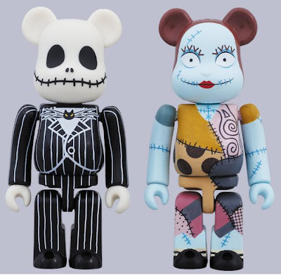 The Nightmare Before Christmas 100% Be@rbrick 2 Pack - Jack Skellington & Sally
